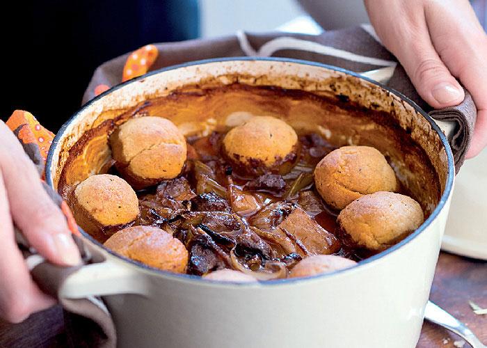 recipe for lamb casserole with rosemary dumplings