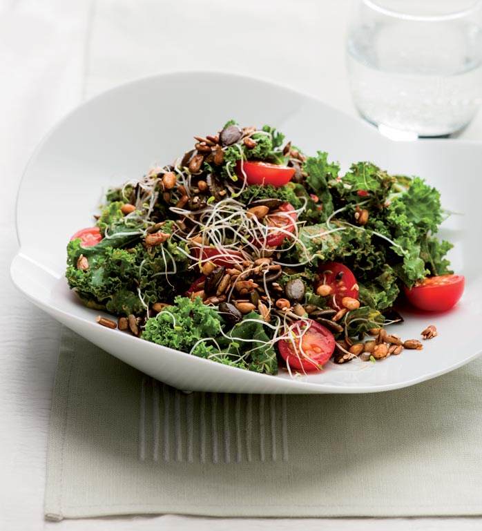 cancer fighting recipes kale salad