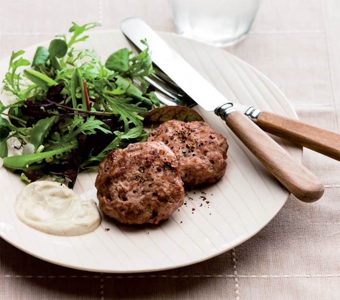 recipes to help fight cancer - japanese lamb burgers with wasabi mayo