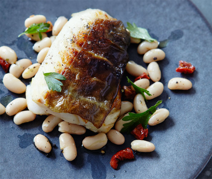 fennel-smoked-cod-with-a-warm-bean-salad