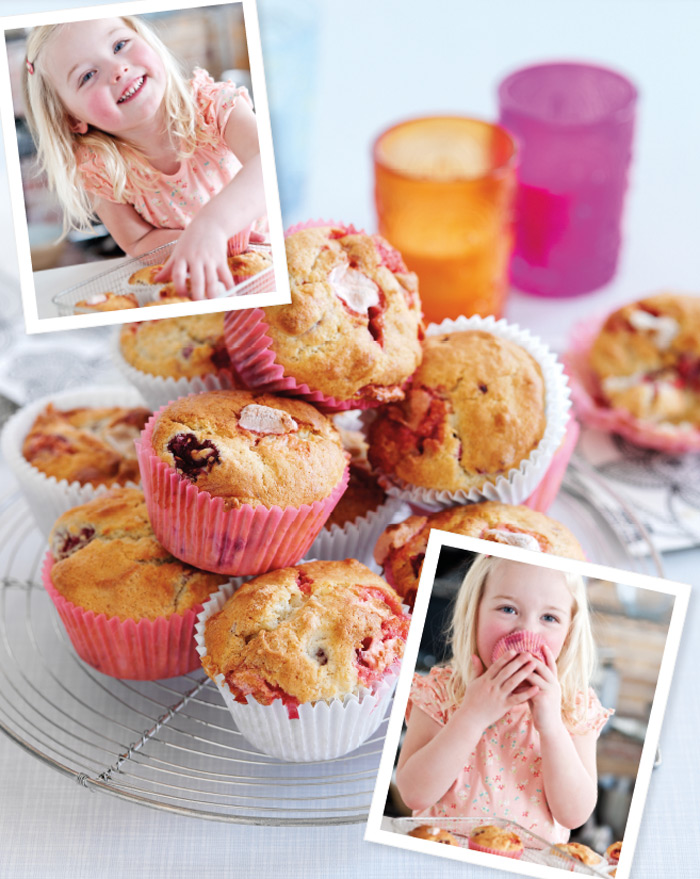 Jo Pratt's Raspberry Marshmallow Muffins - perfect for Half Term baking with the kids
