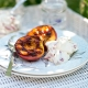 jo pratt's griddled peaches with strawberry cream and pimm's for wimbledon