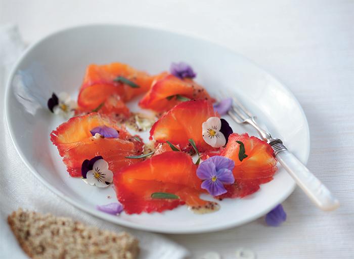 cured beetroot salmon gravlax