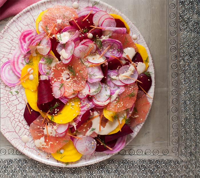 Bethany Kehdy's recipe for Shaved Beetroot, Radish & Grapefruit Salad