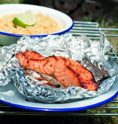 ginger and soy salmon in foil_